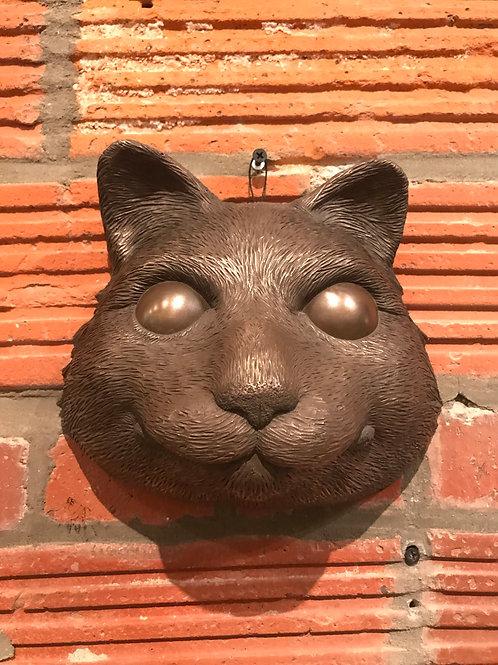 COLD CAST BRONZE CAT MASK