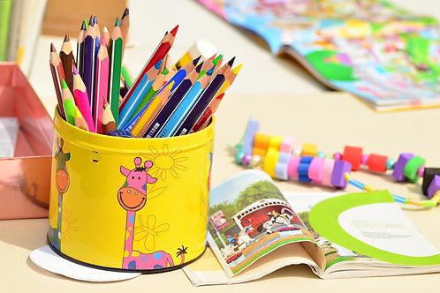 Caixa Lápis de cor 12 cores  5 unidades : ONG One By One - Festa da Maysa