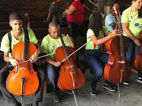 Espigão cromado p/ violoncelo :: ONG Agência do Bem - Antonio