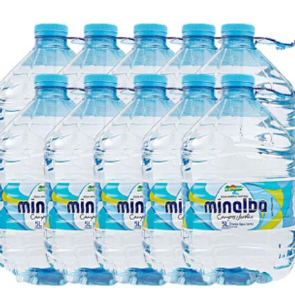 Kit 10 garrafas de água 5 litros