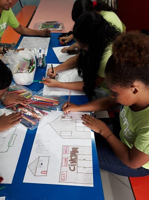 Caderno desenho 48 fls : ONG Agência do Bem - Festa da Aninha