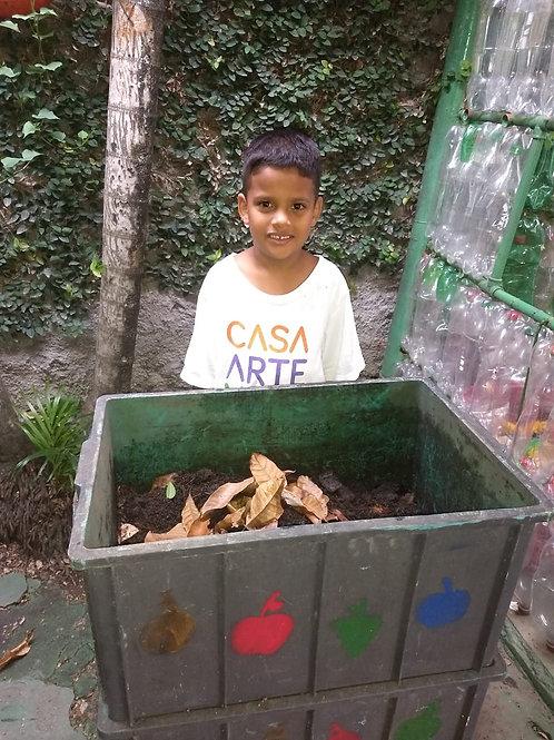 Composteira : ONG Casa Arte Vida