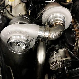 cummins side mount s400/s400 twin turbo kit
