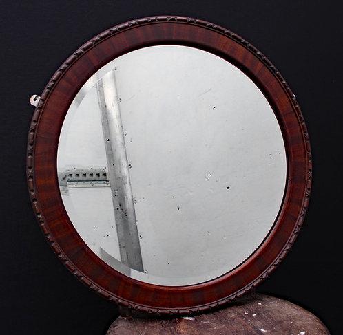 Ornate Wooden Bevelled Mirror