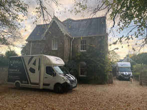 Moving a lovely family home with inquisitive pets.