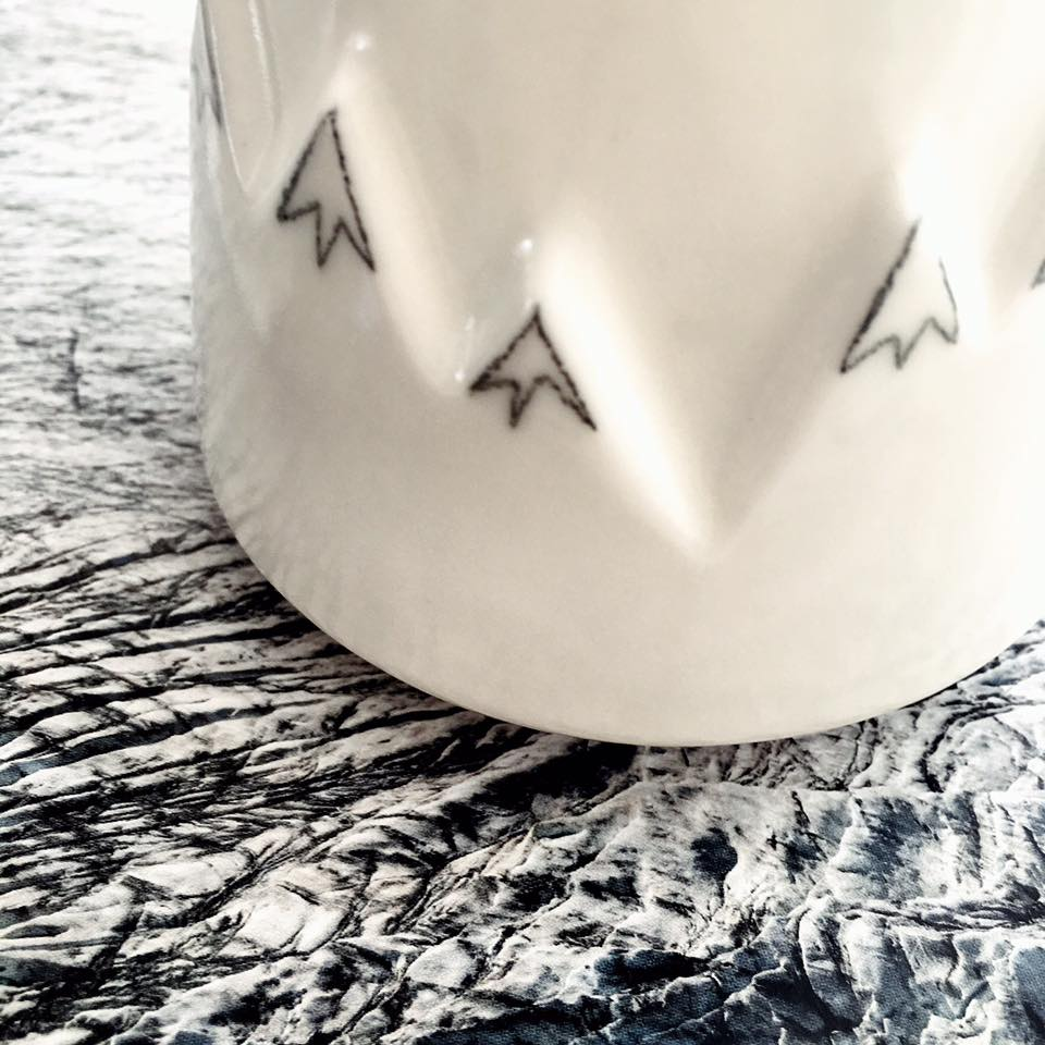 Mountains, Porcelain Candle holder