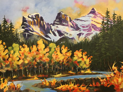 Three Sisters, Fall, Canmore