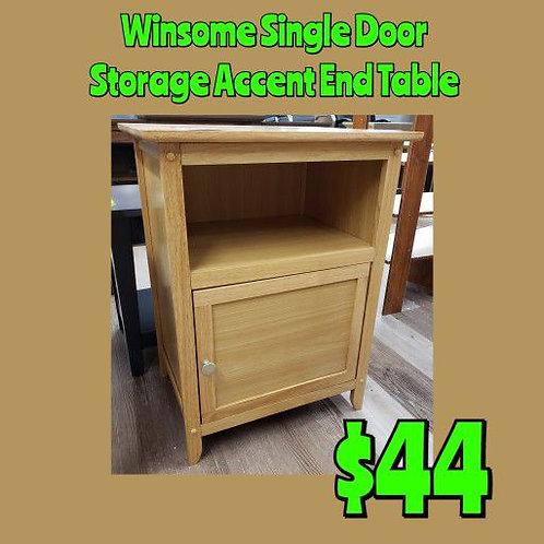Winsome Single Door Storage Accent Table Nightstand