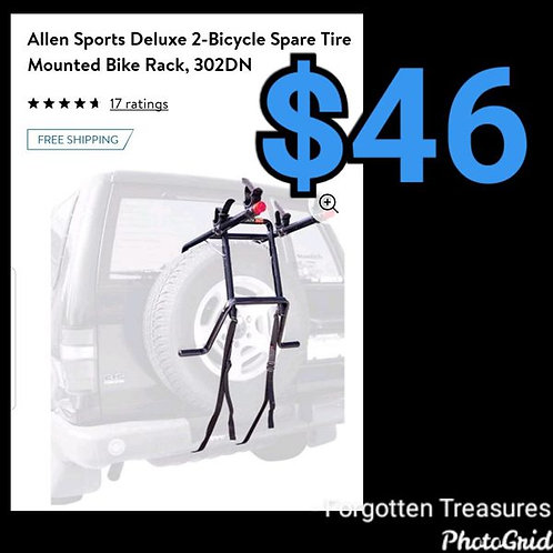 Allen Sports Deluxe 2 Bike Spare Tire Carrier Rack 302DN