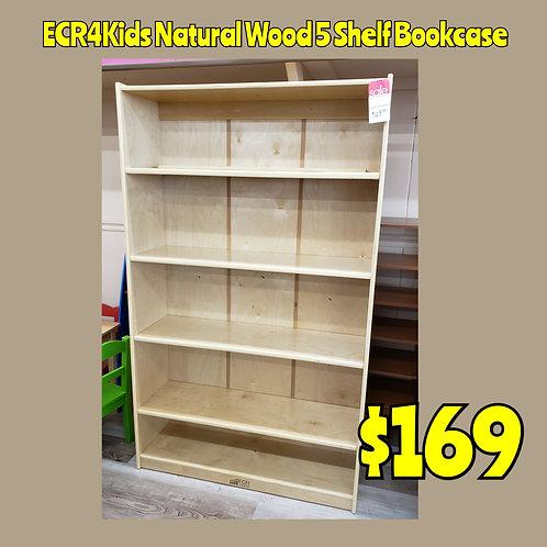 ECR4Kids All Wood 5 Shelf Bookcase