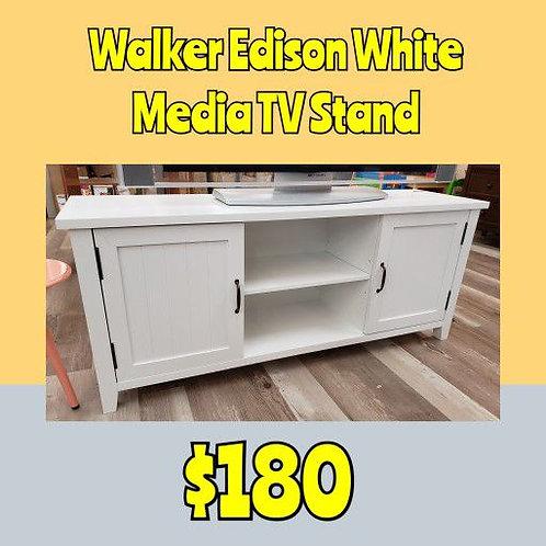 Walker Edison White Media TV Stand