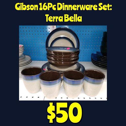 Gibson 16pc Dinnerware Set: Terra Bella