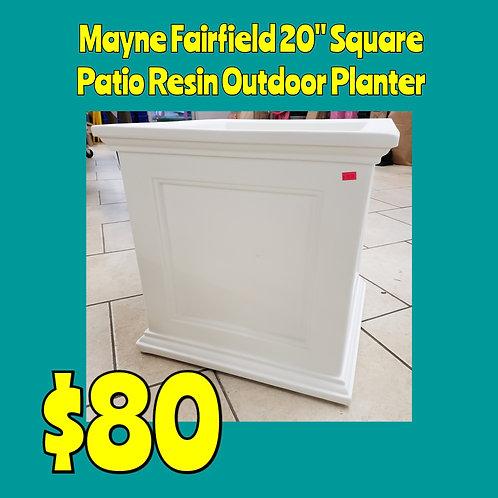 """Mayne Fairfield 20"""" Square Resin Patio Planter"""