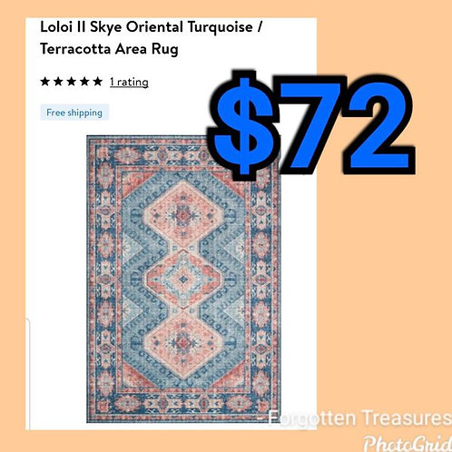 "Loloi Skye Oriental Turquoise Teracotta 5' x 7'6"" Rug"