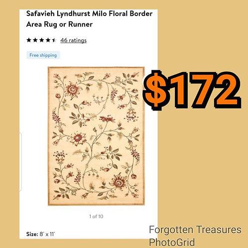 Safavieh Lyndhurst Milo Floral Border Earth Tones 8' x 11' Area Rug