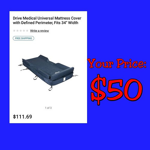 """Drive Medical Mattress Cover w/ Defined Perimeter: Fits 34"""" Wide"""
