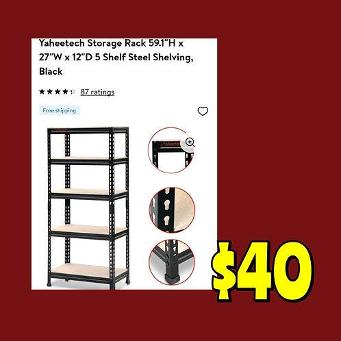 NEW In Box: Yaheetech Storage Rack: 27x12 Shelf