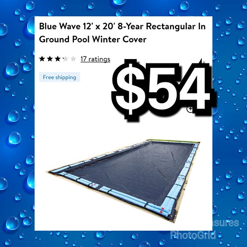 Blue Wave 12' x 20' 8 Year Rectangular In Ground Pool Winter Cover