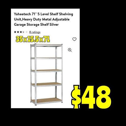 """Yaheetech 35"""" X 15.5"""": Silver Storage Rack"""