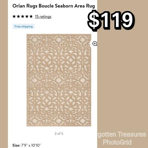 Orian Rugs Boucle Seaborn 7x10 Area Rug