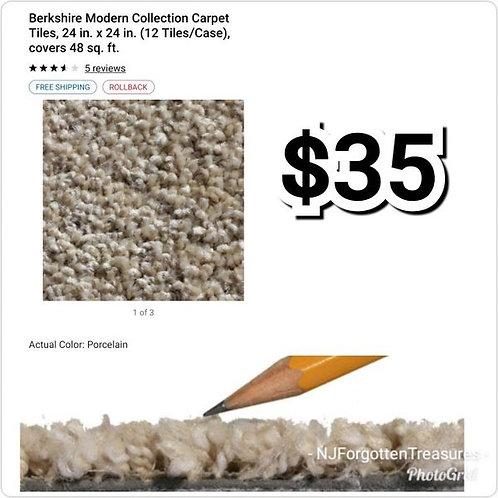 "Berkshire Mid Century Carpet Tiles Box of 12 24"" x 24"" Porcelain"