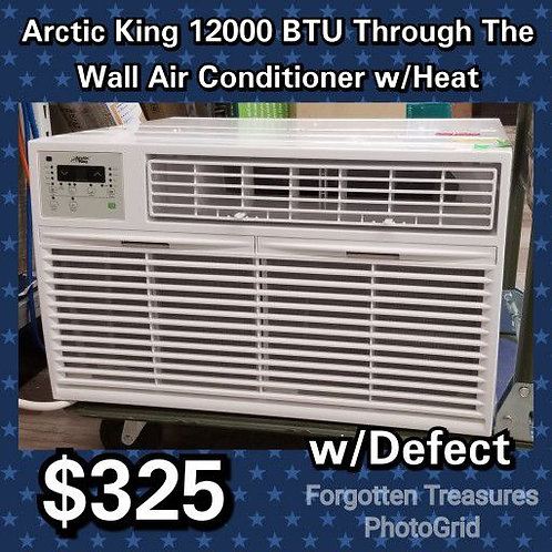 Arctic King 12,000 BTU Through The Wall Air Conditioner With Heat w/defect