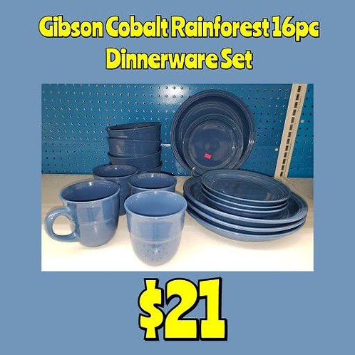 Gibson Cobalt 16pc Dinnerware Set