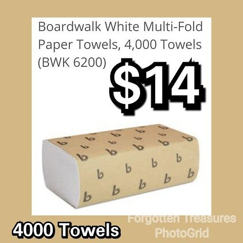 Boardwalk 6200 White Multi Fold Paper Towels 16 Sleeves 4000 Count