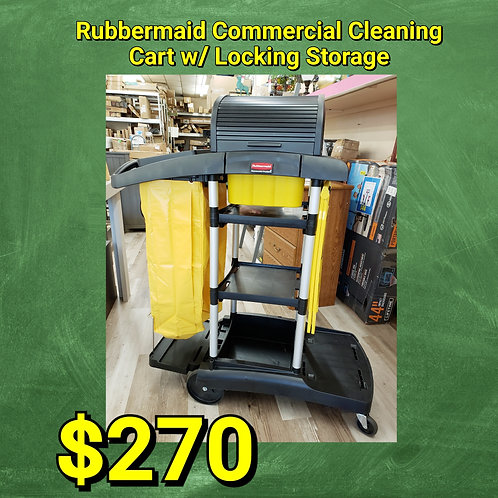 Rubbermaid Commercial High Security Cleaning Cart w/ Locking Compartment