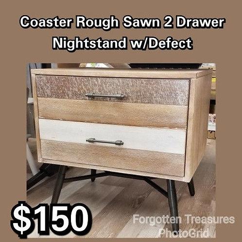 Coaster Rough Sawn 2 Drawer Nightstand w/Defect