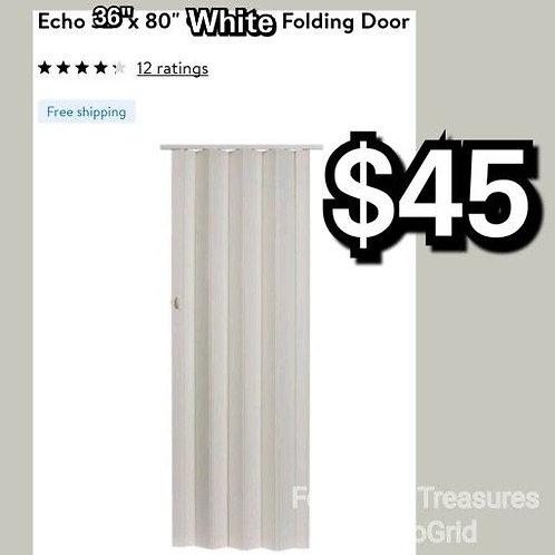 """Homestyle Echo White 36"""" x 80"""" Accordion Door"""