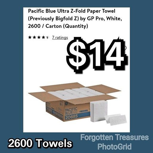 Pacific Blue Ultra Z Fold Paper Towels 10 Sleeves 2600 Total