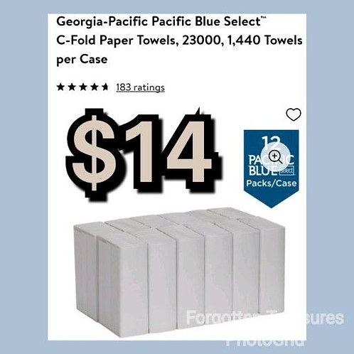Georgia Pacific Blue Select 23000 C Fold Paper Towels 1440 Count