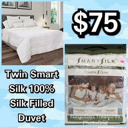 Smart Silk Twin Size 100% Silk Filled Duvet