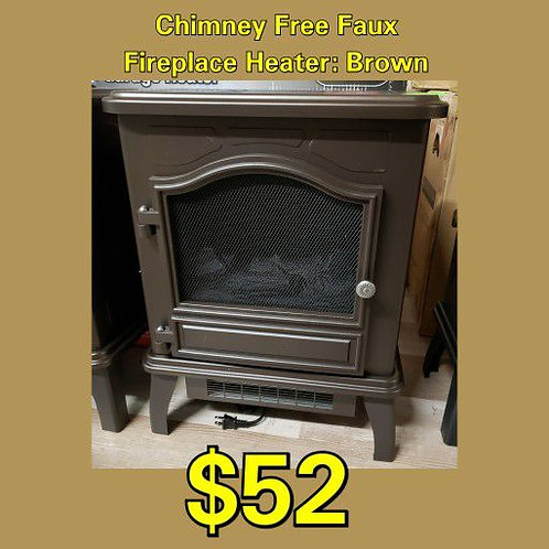 Chimneyfree Faux Fireplace Electric Heater: Brown