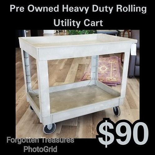 Heavy Duty Grey Rolling Utillity Cart: Pre Owned