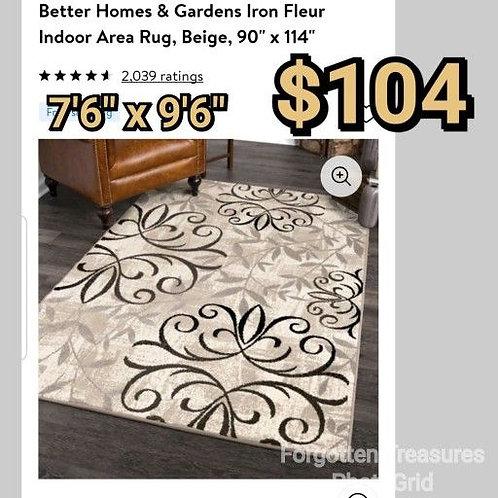 "Better Homes Iron Fleur Beige 7'6"" x 9'6"" Area Rug"