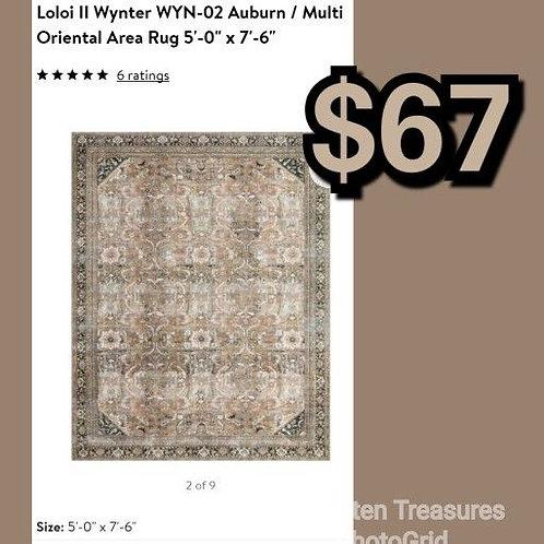 "Loloi Wynter Auburn 5' x 7'6"" Area Rug"