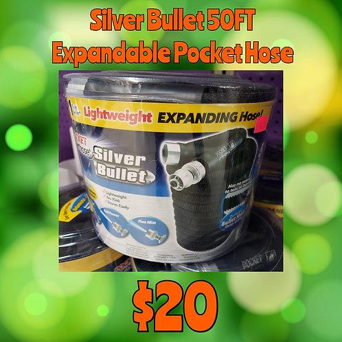 Silver Bullet 50Ft Expandable Pocket Hose