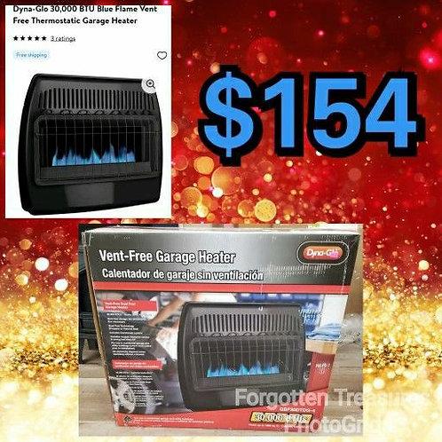 Dyna Glo 30000 BTU Blue Flame Vent Free Thermostatic Garage Heater