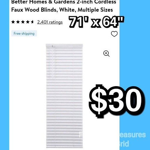 """Better Home 2"""" Cordless Faux Wood Blinds"""