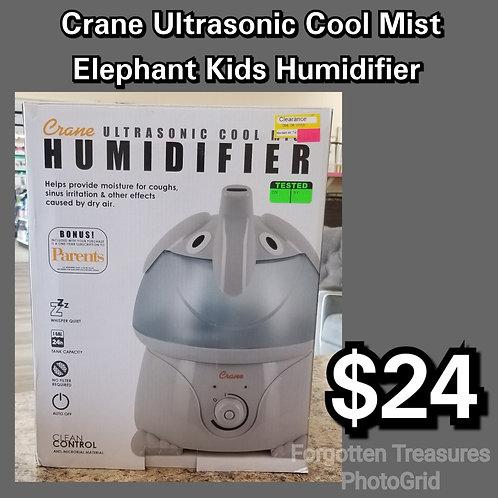 Crane Ultrasonic Cool Mist Kids Elephant Humidifier