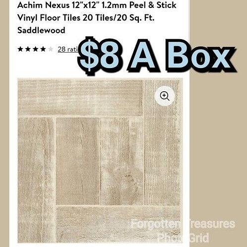 "Achim Nexus 12 x12"" 1.2mm Peel & Stick Sandalwood Vinyl Floor Tiles 20 Pc/20"