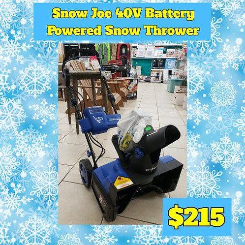 Snow Joe 40V Battery Powered Snow Thrower