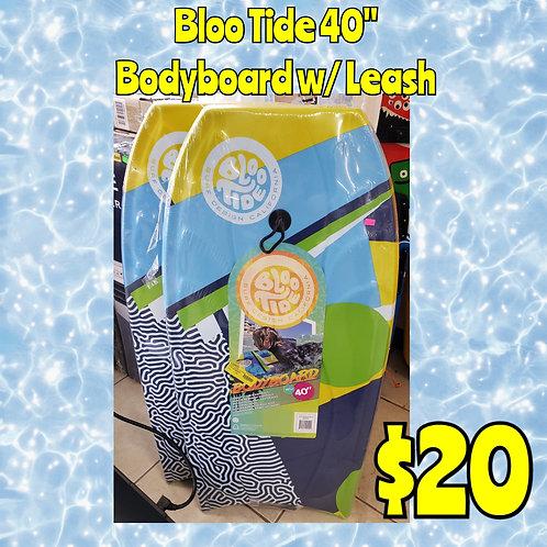 """Bloo Tide 40"""" Bodyboard w/ Leash"""