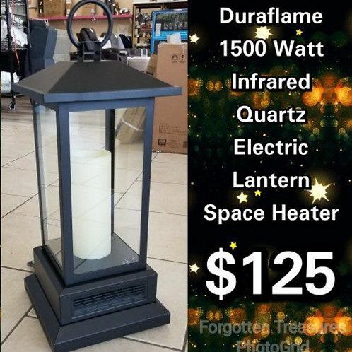 Duraflame 1500 Watt Infrared Quartz Electric Lantern Style Space Heater W/ Remo