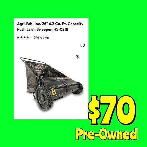 """Agri Fab 26"""" Push Lawn Sweeper: Pre-Owned"""