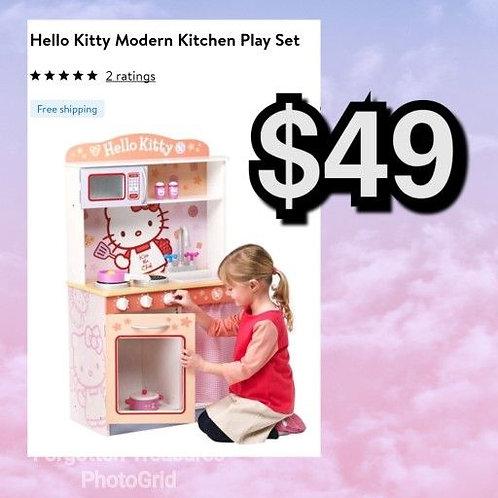 Hello Kitty Modern Kitchen Playhouse In Box