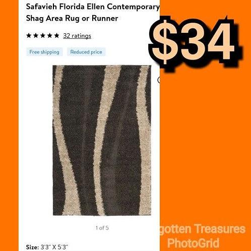 """Safavieh Florida Ellen Brown Contemporary 3'3"""" x 5'3"""" Area Rug"""