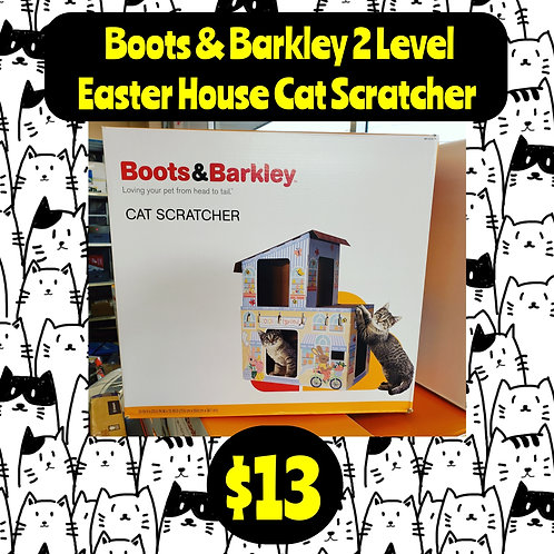 Boots & Barkley 2 Level Easter House Cat Scratcher